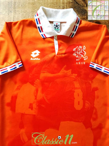 1996/97 Netherlands Home Football Shirt (L)