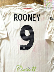 2007/08 England Home Football Shirt Rooney #9 (XL)