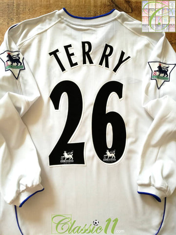 2001/02 Chelsea Away Premier League Football Shirt Terry #26. (L)