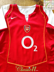 2004/05 Arsenal Home Football Shirt (Size 14-16)
