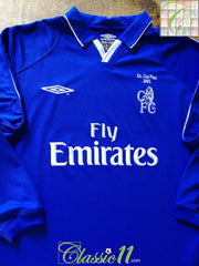 2001/02 Chelsea Home F.A. Cup Final Football Shirt. (XL)
