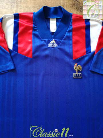 1992/93 France Home Player Issue Football Shirt (L)