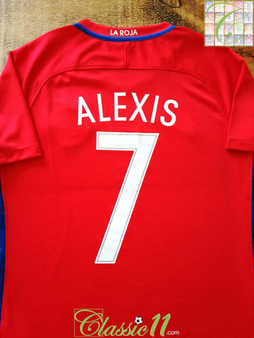 2016/17 Chile Home Football Shirt Alexis #7 (S)