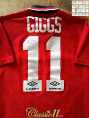 1994/95 Man Utd Home Premier League Football Shirt Giggs #11 (B)