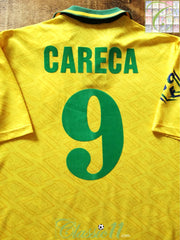 1991/92 Brazil Home Football Shirt Careca #9 (L)