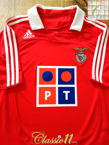 2007/08 Benfica Home Football Shirt (Y)
