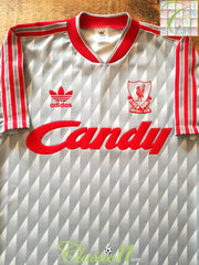 1989/90 Liverpool Away Football Shirt (S)