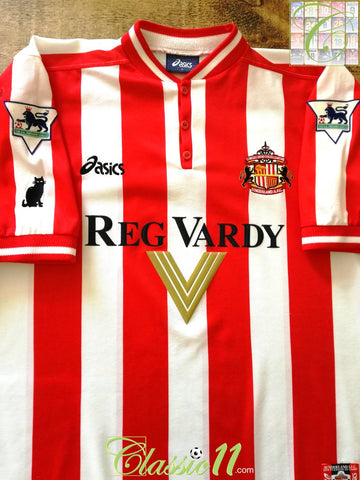1999/00 Sunderland Home Premier League Football Shirt (L)
