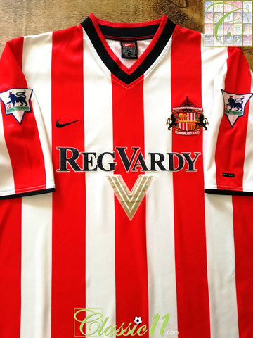 2000/01 Sunderland Home Premier League Football Shirt (L)