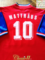 1993/94 Bayern Munich Home Football Shirt Matthäus #10 (XL)