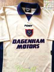 1996/97 West Ham Away Football Shirt (XL)