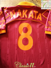 1999/00 Roma Home Football Shirt Nakata #8 (M)
