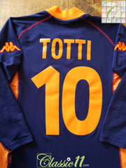 2001/02 Roma 3rd Football Shirt Totti #10. (M)