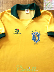 1988/89 Brazil Home Football Shirt (L)