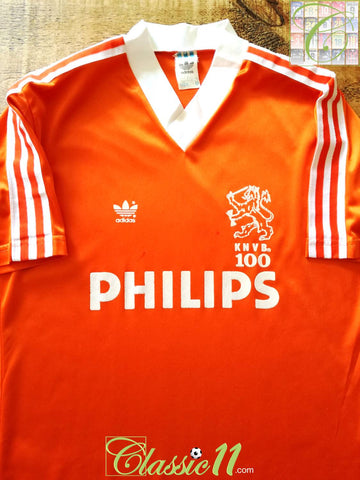 1988/89 Netherlands Home Centenary Football Shirt (M)