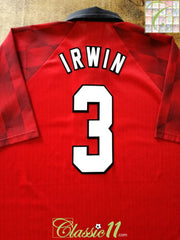 1996/97 Man Utd Home Football Shirt Irwin #3 (XL)