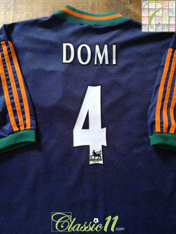1997/98 Newcastle United Away Premier League Football Shirt Domi #4 (XXL)