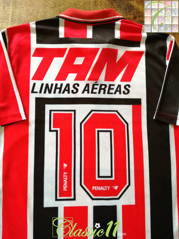 1993 Sao Paulo Away Football Shirt Leonardo #10 (L)
