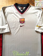 1998/99 Barcelona Away Basic Football Shirt (L)