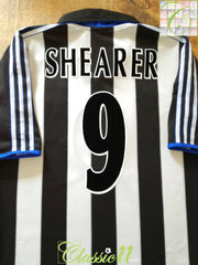 1999/00 Newcastle United Home European Football Shirt Shearer #9 (M)