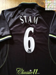 1998/99 Man Utd 3rd Premier League Football Shirt Stam #6 (M)
