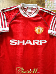 1990/91 Man Utd Home Football Shirt (S)