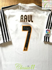 2003/04 Real Madrid Home La Liga Football Shirt Raul #7 (L)