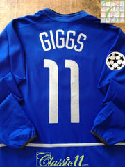 2002/03 Man Utd 3rd Champions League Football Shirt. Giggs #11 (M)