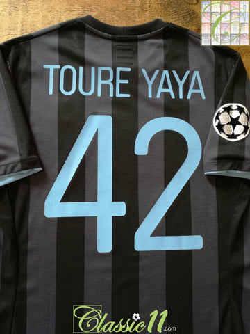 2012/13 Man City 3rd Champions League Football Shirt Toure Yaya (M)