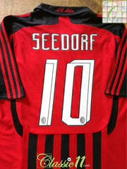 2007/08 AC Milan Home Football Shirt Seedorf #10 (L)