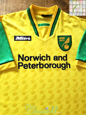 1996/97 Norwich City Home Shirt (L)