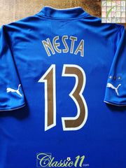 2003/04 Italy Home Football Shirt Nesta #13 (L)