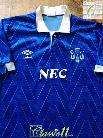 1989/90 Everton Home Football Shirt (M)