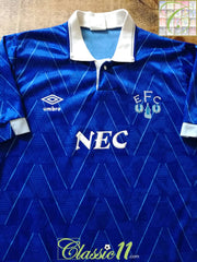 1989/90 Everton Home Football Shirt (B)