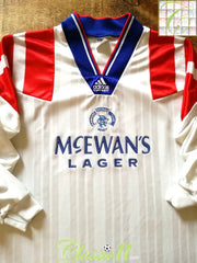 1992/93 Glasgow Rangers Away Player Issue Football Shirt. (XL)