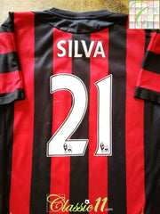 2011/12 Man City Away Premier League Football Shirt Silva #21 (S)