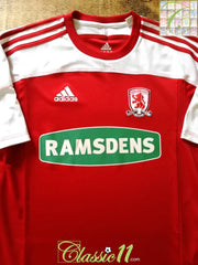 2011/12 Middlesbrough Home Football Shirt (M)