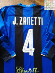 2008/09 Internazionale Home Scudetto Football Shirt. J.Zanetti #4 (L)