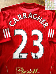 2010/11 Liverpool Home Premier League Football Shirt Carragher #23 (M)