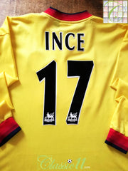 1997/98 Liverpool Away Premier League Football Shirt. Ince #17 (XL)