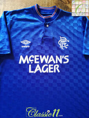 1987/88 Glasgow Rangers Home Football Shirt (S)