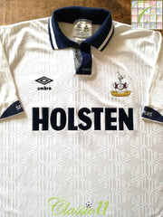 1991/92 Tottenham Hotspur Home Football Shirt (M)