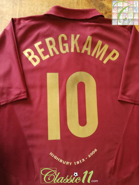 62c57fbfb 2005 06 Arsenal Home European Football Shirt Bergkamp  10   Old ...