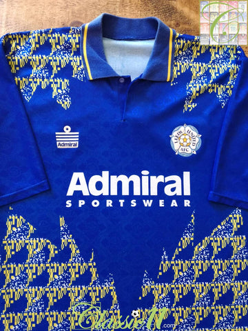 1992/93 Leeds United Away Football Shirt (L)