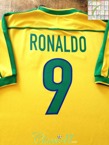 1998/99 Brazil Home Football Shirt Ronaldo #9 (B)