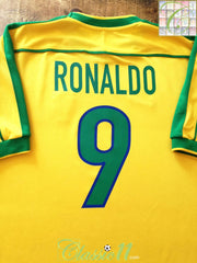 1998/99 Brazil Home Football Shirt Ronaldo #9 (L)