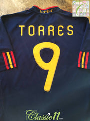 2010/11 Spain Away Football Shirt Torres #9 (M)