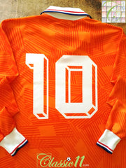 1991/92 Netherlands Home Player Issue Football Shirt. Gullit #10 (L)