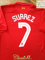 2012/13 Liverpool Home European Football Shirt Suarez #7 (L)