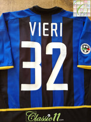 2002/03 Internazionale Home Serie A Football Shirt Vieri #32 (L)